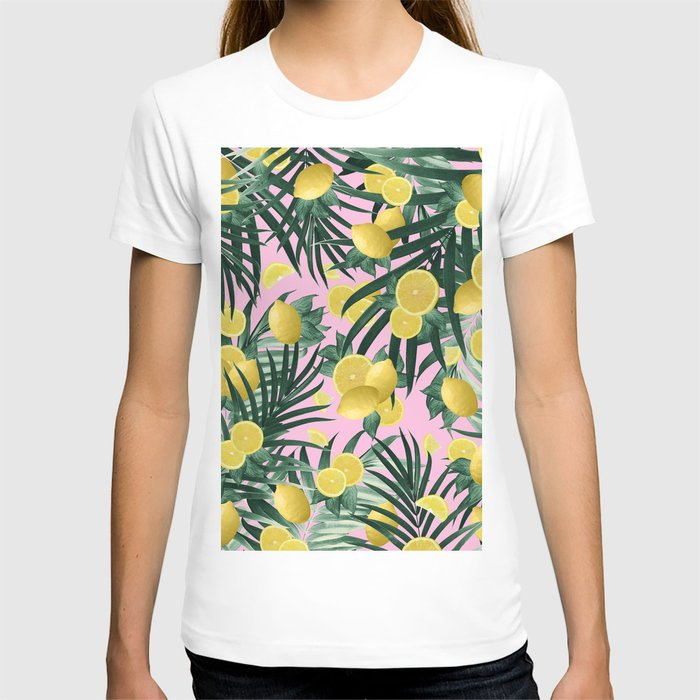 Summer Lemon Twist Jungle #6 #tropical #decor #art #society6 T-shirt