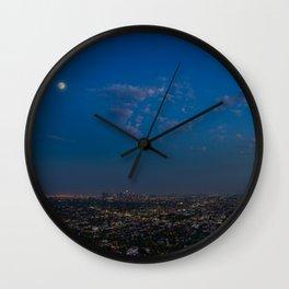 Moon Over LA Wall Clock