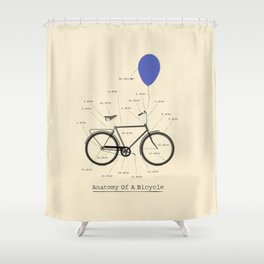 Anatomy Of A Bicycle Shower Curtain