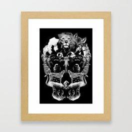 Skull graphic design Framed Art Print