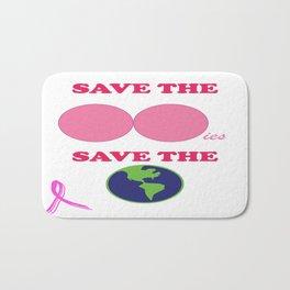 RAISING BREAST CANCER AWARENESS Bath Mat