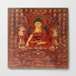 Buddha Shakyamuni as Lord of the Munis Metal Print