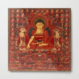 Buddha Shakyamuni as Lord of the Munis Metal Print
