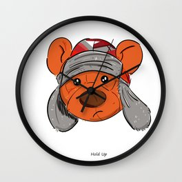 Bino and The Bear (Childish Gambino v3005 Tribute) Wall Clock
