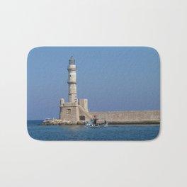 Lighthouse of Chania, Crete, Greece Bath Mat