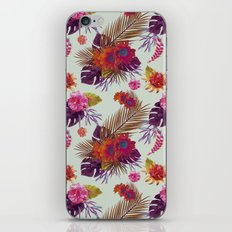 TROPICAL FLORAL PASSION iPhone & iPod Skin