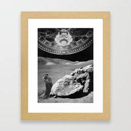 Lovers on the Moon part 2 Framed Art Print