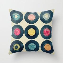 Vinyl Collection Throw Pillow