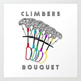 Rock Climbing Gear Freak Art Print