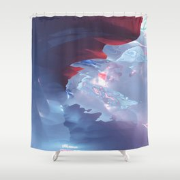 Below the cold surface Shower Curtain