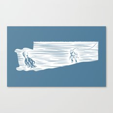 Deep Seasaw Diver Canvas Print