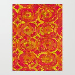 Red, Orange and Yellow Oils 7365 Poster