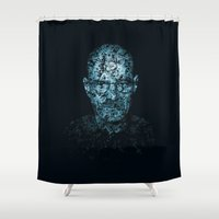 walter white Shower Curtains featuring Walter White by AGNOLAS
