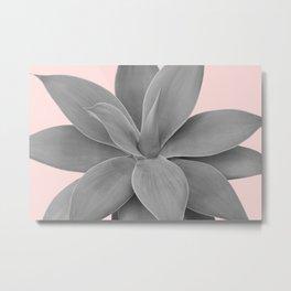 Gray Blush Agave Romance #1 #tropical #decor #art #society6 Metal Print