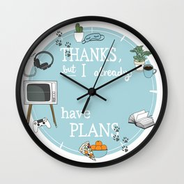Introverts Paradise Wall Clock