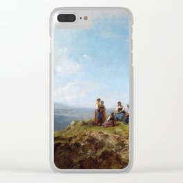 Carl Spitzweg Girls on a Pasture Clear iPhone Case
