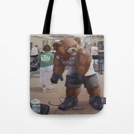 Bodybuilder Teddy Tote Bag