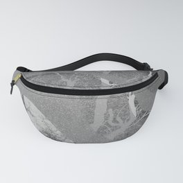 Black and white #abstract #tree #illustration Fanny Pack