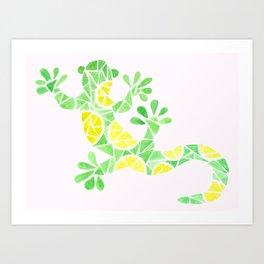 Geometric gecko Art Print