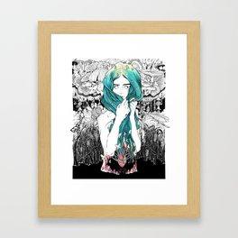 She Waded Framed Art Print