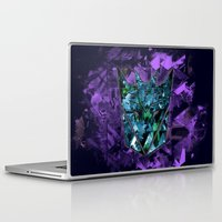 transformers Laptop & iPad Skins featuring Decepticons Abstractness - Transformers by DesignLawrence