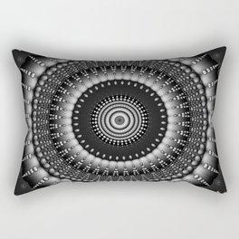 raindrops mandala bw Rectangular Pillow