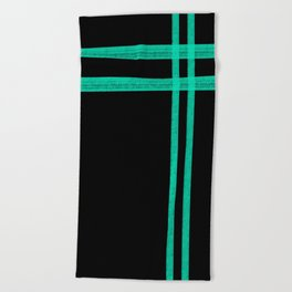 Mint Strip Beach Towel