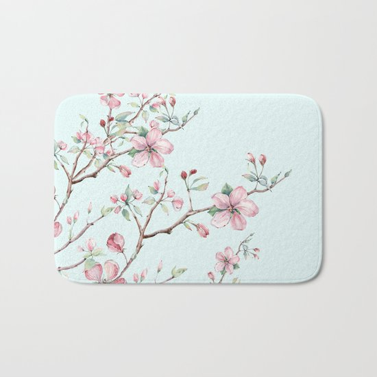 Apple Blossom #society6 #buyart Bath Mat