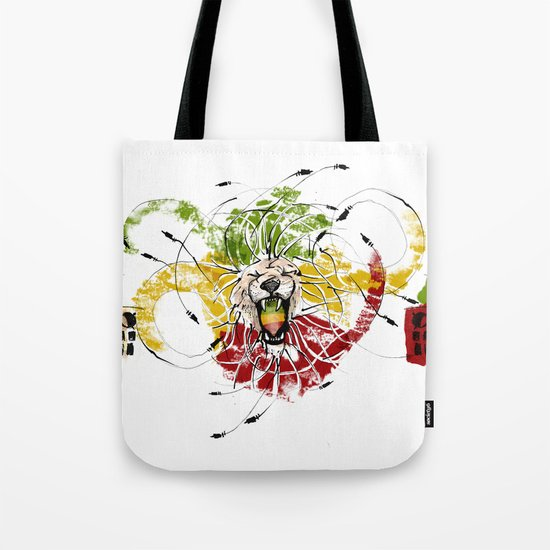 Reggae Lion Speakers Tote Bag