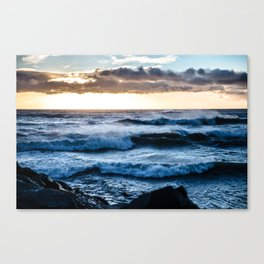 Dublin sunrise from Poolbeg Canvas Print