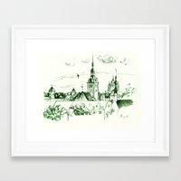 medieval Framed Art Prints featuring Medieval landscape. by LaDa