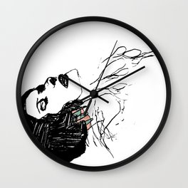 The weight of lines Wall Clock