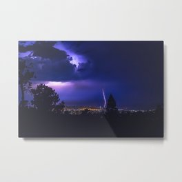 California Lightning Storm Metal Print