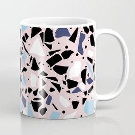 Terrazzo Spot Blues on Blush Coffee Mug