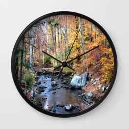Autumn Woodlands Wall Clock
