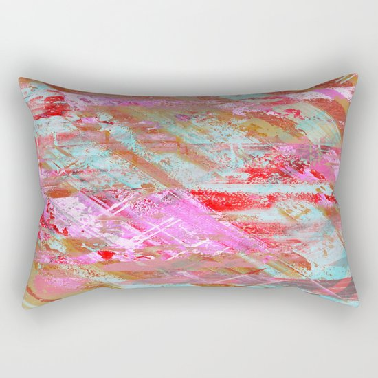Confidence - Abstract, textured oil painting Rectangular Pillow