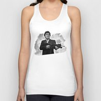 scarface Tank Tops featuring Badass 80's Action Movie Quotes - Scarface by Casa del Kables