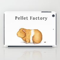 guinea pig iPad Cases featuring Pellet Factory - Guinea Pig Poop by When Guinea Pigs Fly