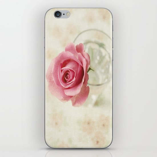 Vintage Textured Rose  iPhone & iPod Skin