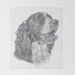 Gotta draw the English Springer Doggie! Throw Blanket