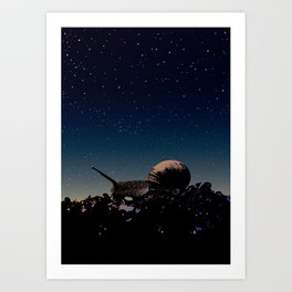 While you were sleeping Art Print