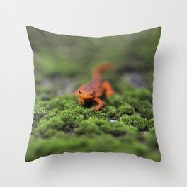 Coming For You - Orange Salamander Throw Pillow