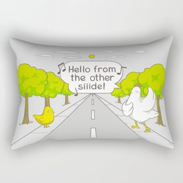 Why Did the Chicken Cross the Road? Rectangular Pillow