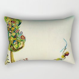 African American Masterpiece 'Tree of Life' by Benny Andrews Rectangular Pillow