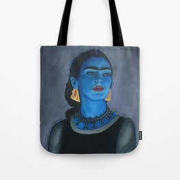 Blue Frida Tote Bag