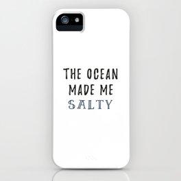 Salty Ocean iPhone Case