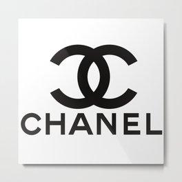 ChanelLogo T Shirt Metal Print