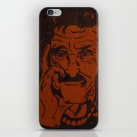 vonnegut iPhone & iPod Skins featuring Kurt Vonnegut, Jr. by Emily Storvold