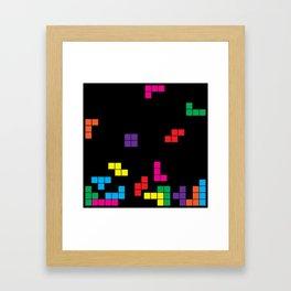 tetris on black Framed Art Print