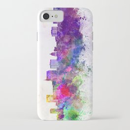 Boise skyline in watercolor background iPhone Case